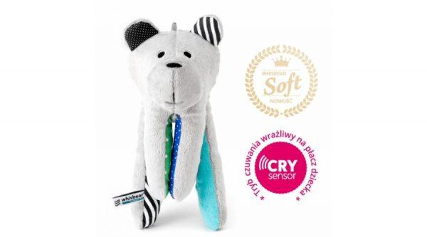 Whisbear altató maci sírás érzékelővel türkiz színben